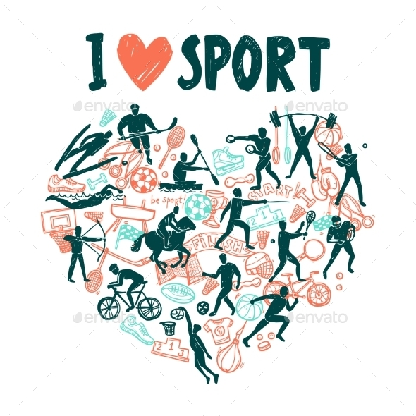 GraphicRiver Love Sport Concept 11284741
