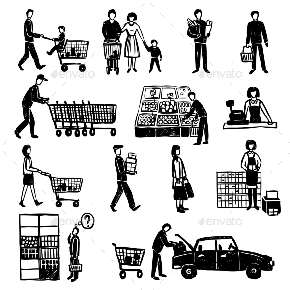 GraphicRiver People In Supermarket 11284743
