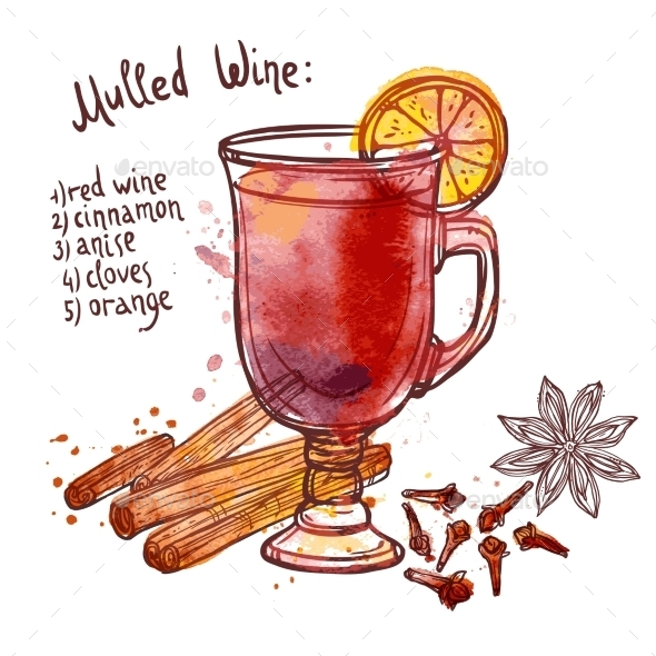 GraphicRiver Mulled Wine Set 11284757
