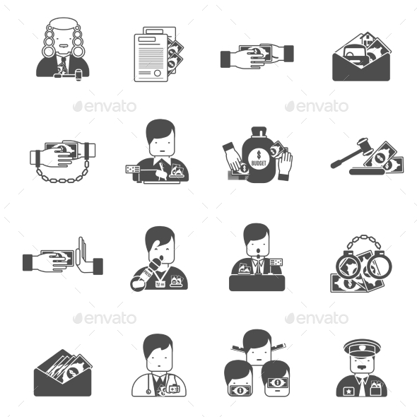 GraphicRiver Corruption Black Icons 11284775
