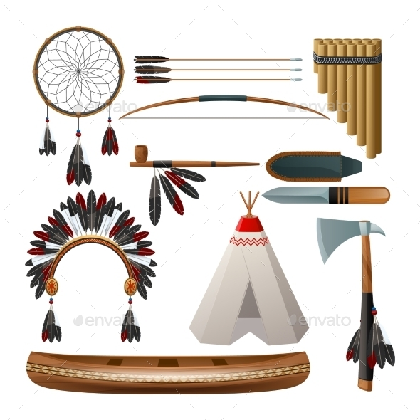 GraphicRiver Ethnic American Indigenous Set 11284796