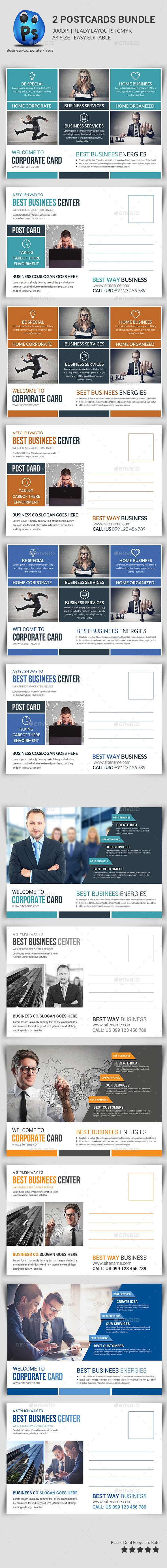 GraphicRiver Multipurpose Business Postcard Bundle 11284800