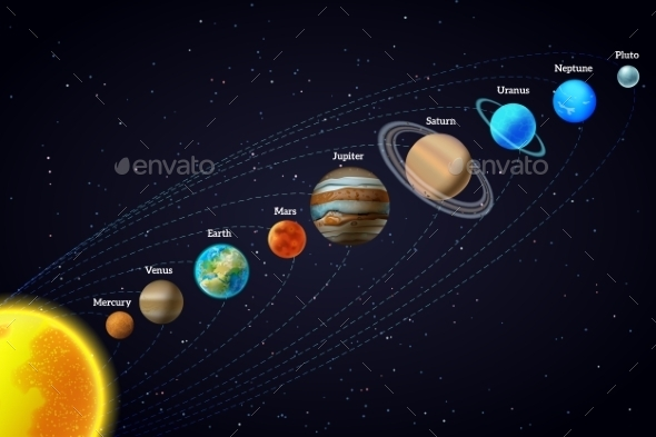 GraphicRiver Solar System Astronomy Banner 11284805
