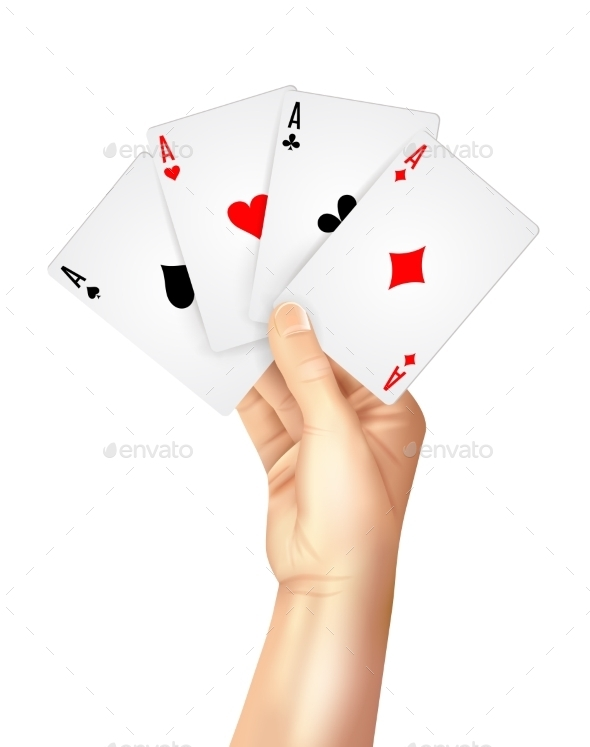 GraphicRiver Regular Playing Cards Spread Holding Hand 11284806