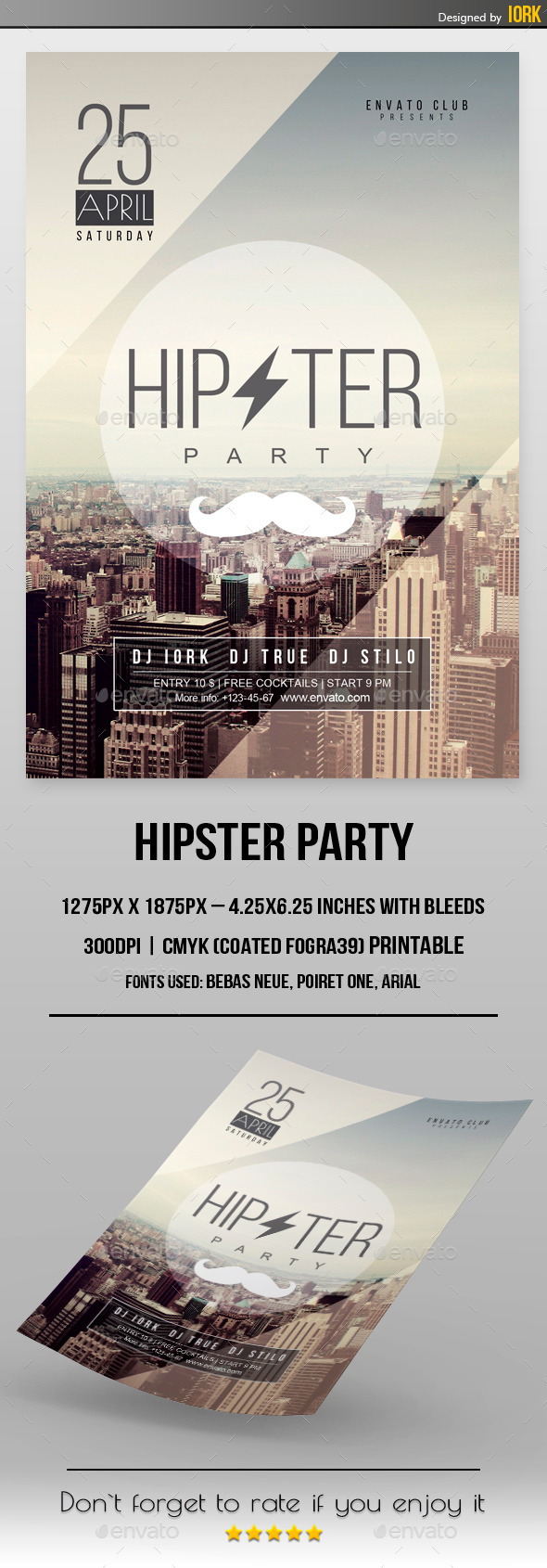 GraphicRiver Minimal Hipster Party Flyer 11284807