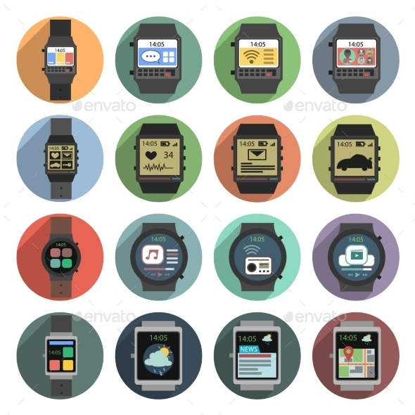 GraphicRiver Smart Watch Icons 11284812