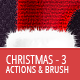 Christmas And Winter Actions And Brushes 3 - GraphicRiver Item for Sale