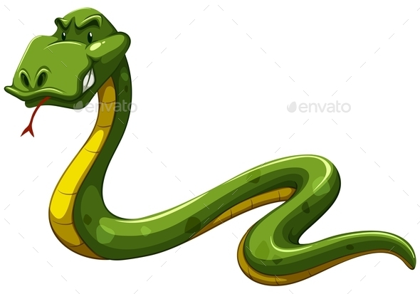 GraphicRiver Green Snake 11284829