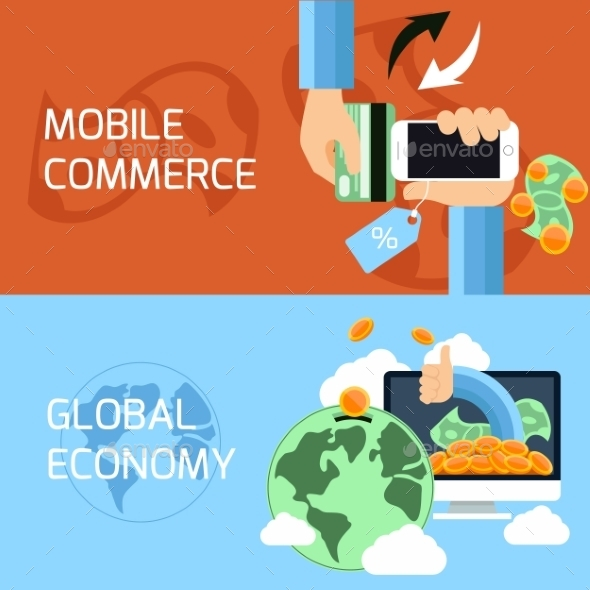 GraphicRiver Mobile Commerce And Global Economy 11284923