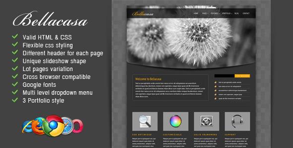 ThemeForest Bellacasa Clean & Modern Website Template 1105141