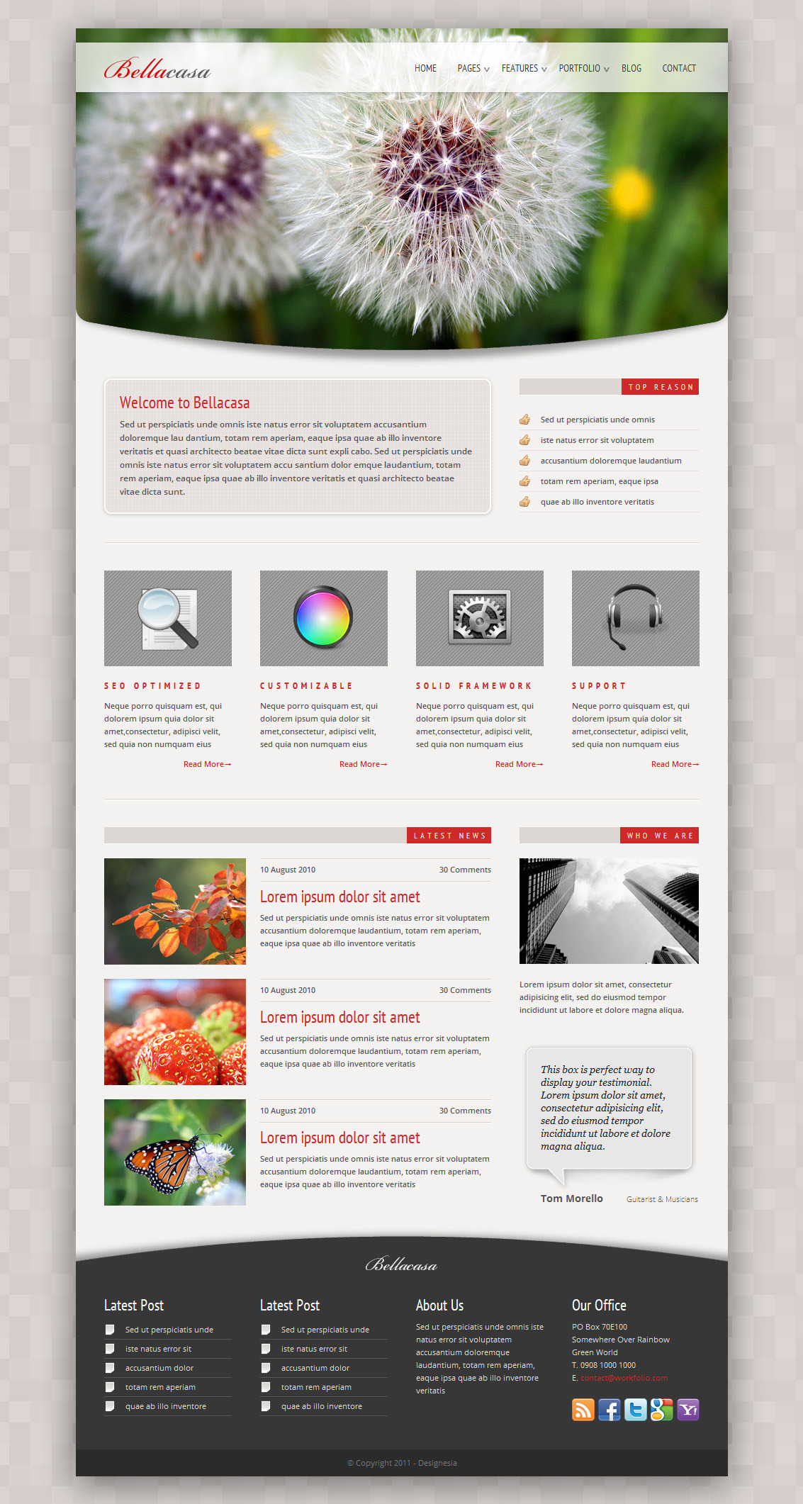 Bellacasa - Clean & Modern Website Template