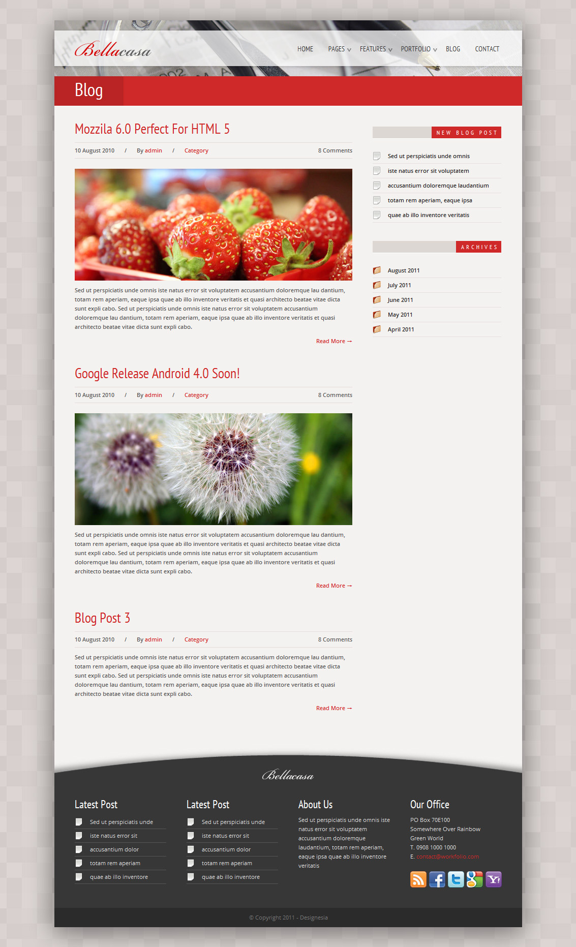 Bellacasa - Clean & Modern Website Template