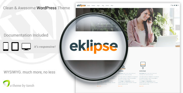 ThemeForest Eklipse Software Responsive WordPress theme 11285088