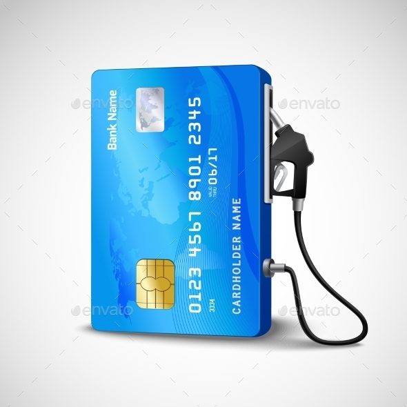 GraphicRiver Credit Card Gas Station 11285093