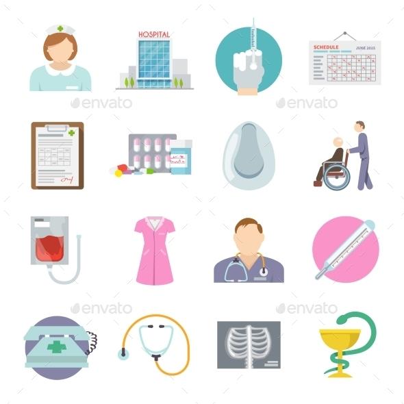 GraphicRiver Nurse Icon Flat 11285239