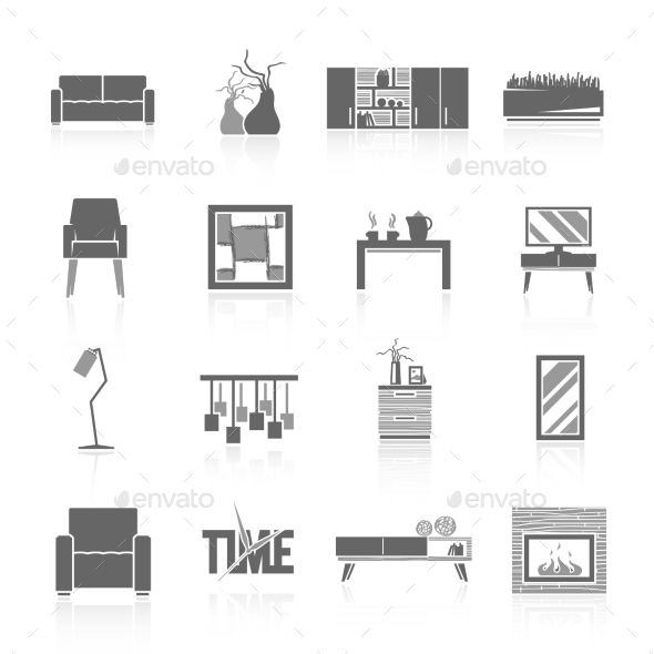 GraphicRiver Living Room Icons Set 11285249