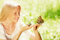 Woman playing with butterfly - PhotoDune Item for Sale