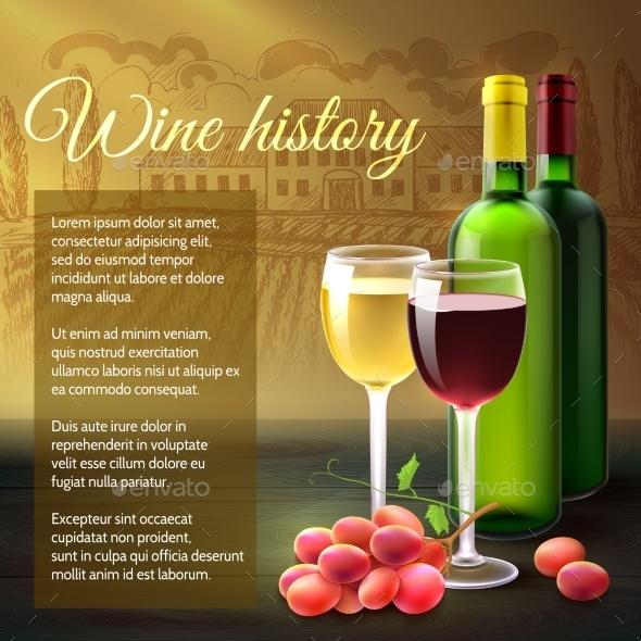 GraphicRiver Wine Realistic Background 11285340