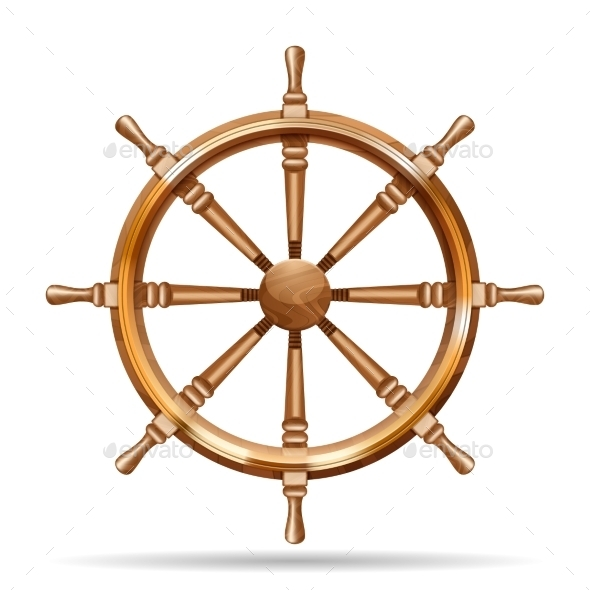 GraphicRiver Antique Wooden Ship Wheel 11285540
