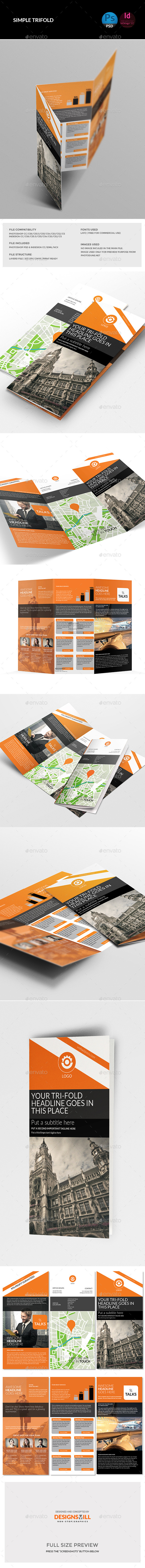 GraphicRiver Orange Tri-Fold Template 11285542