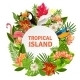 Tropical Birs And Flowers  - GraphicRiver Item for Sale