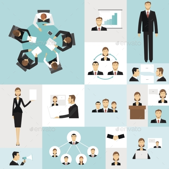 GraphicRiver Business Meeting Icons 11285602