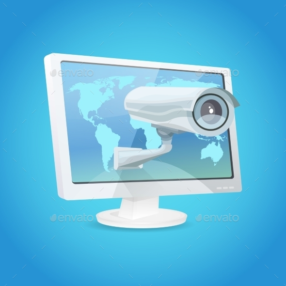 GraphicRiver Surveillance Camera And Monitor 11285607