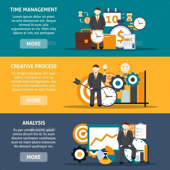 GraphicRiver Time Management Banners 11285926