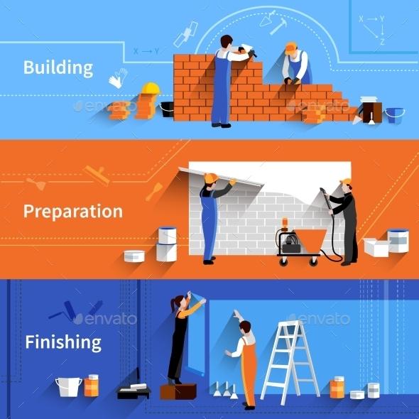 GraphicRiver Worker Banner Set 11285947