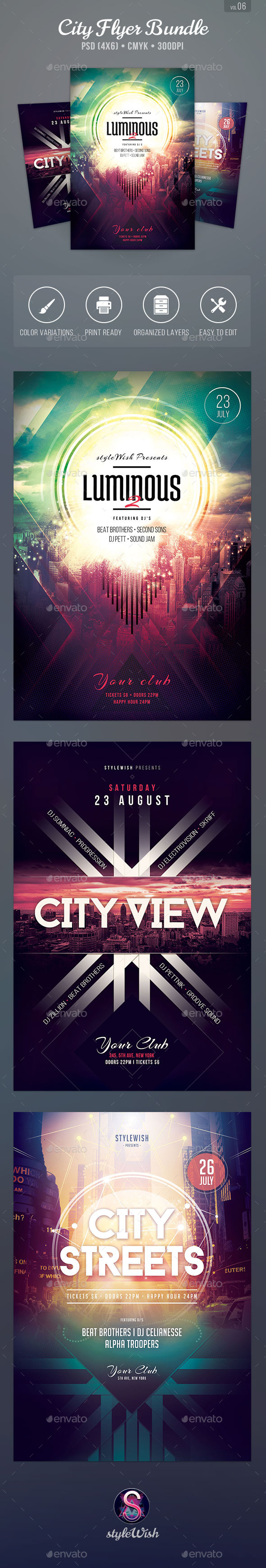 City Flyer Bundle Vol.06 - Print Templates