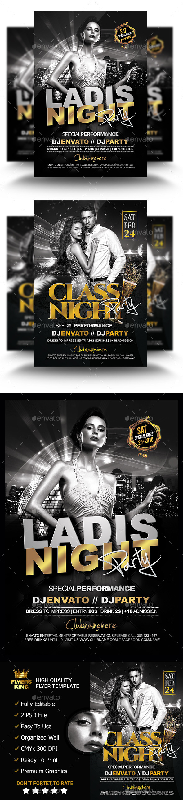 GraphicRiver 2 Classy Night Flyer Two Theme 11285973