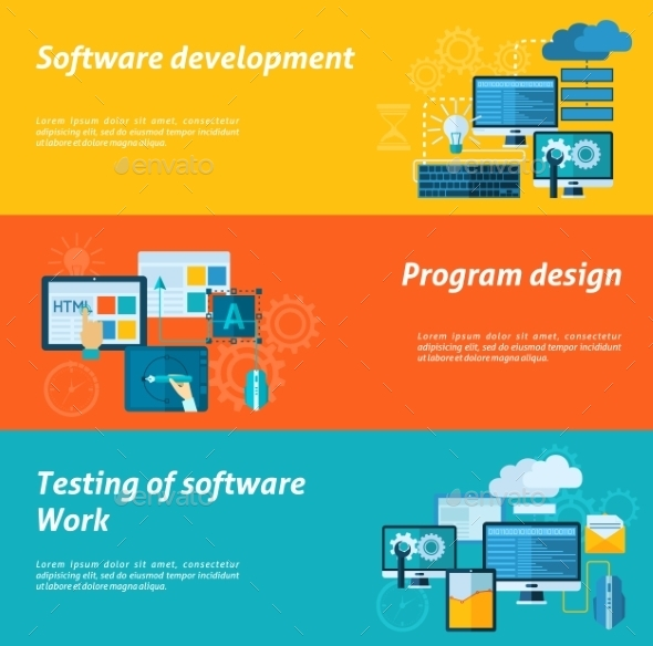 GraphicRiver Program Development Banner Set 11286006
