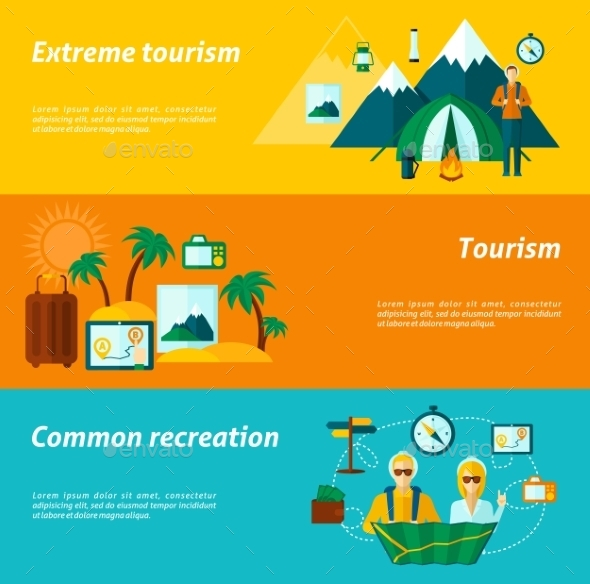 GraphicRiver Tourist Banner Set 11286063