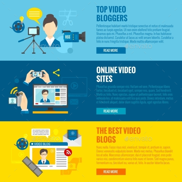 GraphicRiver Video Blog Banners 11286104