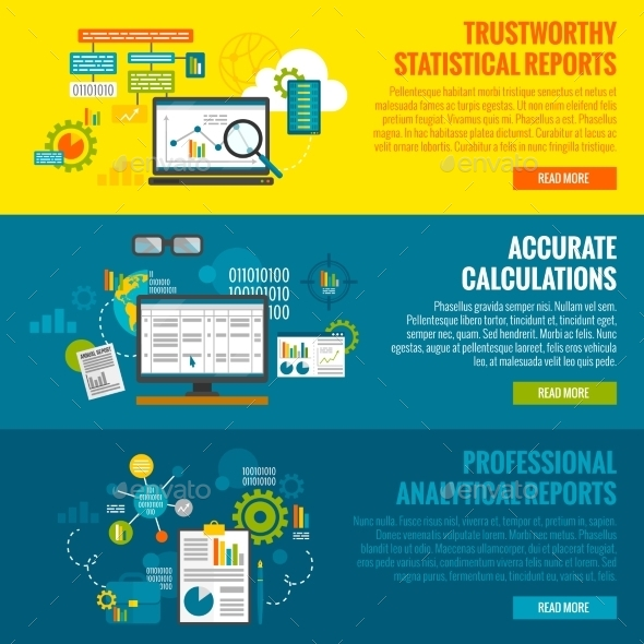 GraphicRiver Data Analytics Banner Set 11286128