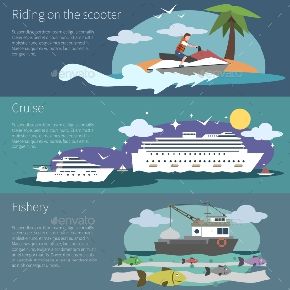 GraphicRiver Ship Banner Horizontal 11286153