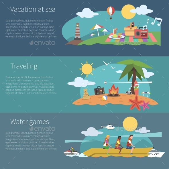 GraphicRiver Summer Banner Set 11286164