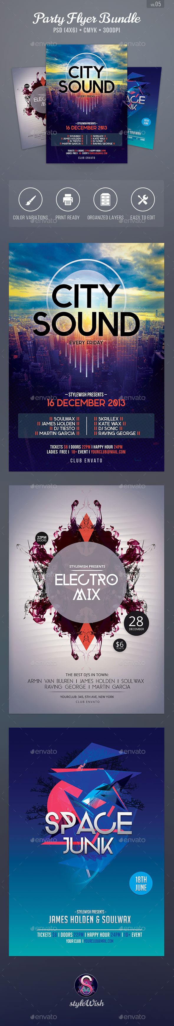 Party Flyer Bundle Vol5 - Clubs & Parties Events