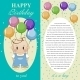 Happy Birthday To You. Gift Card, Note For The Boy - GraphicRiver Item for Sale