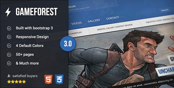 GameForest - Online Magazine HTML Template - Creative Site Templates
