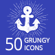 Grungy Icons Set