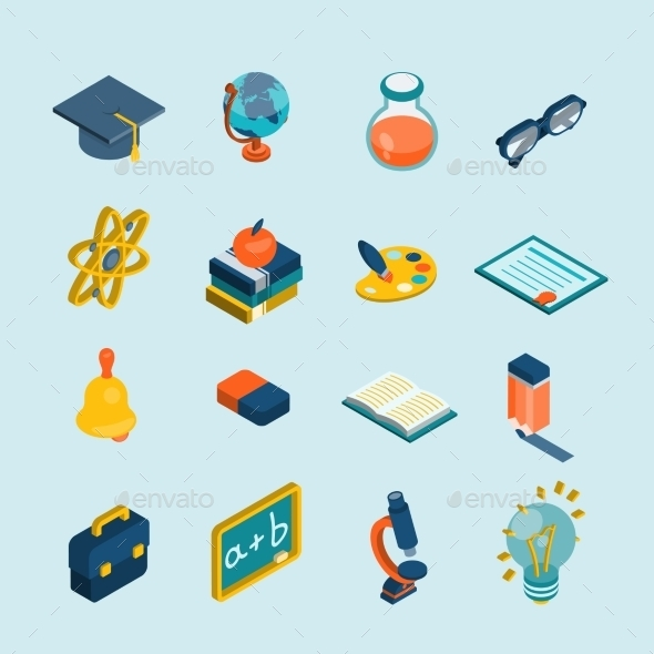 GraphicRiver Education Isometric Set 11286691