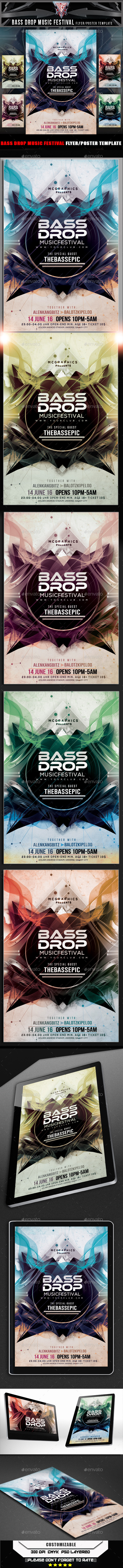 GraphicRiver Bass Drop Music Festival Flyer Template 11286783