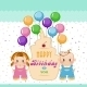 Holiday In Children. Boy And Girl At a Birthday - GraphicRiver Item for Sale