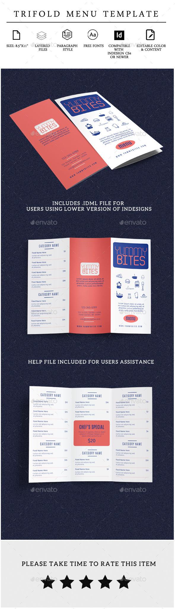 GraphicRiver Restaurant Menu Tri-fold Brochure Vol 2 11287667