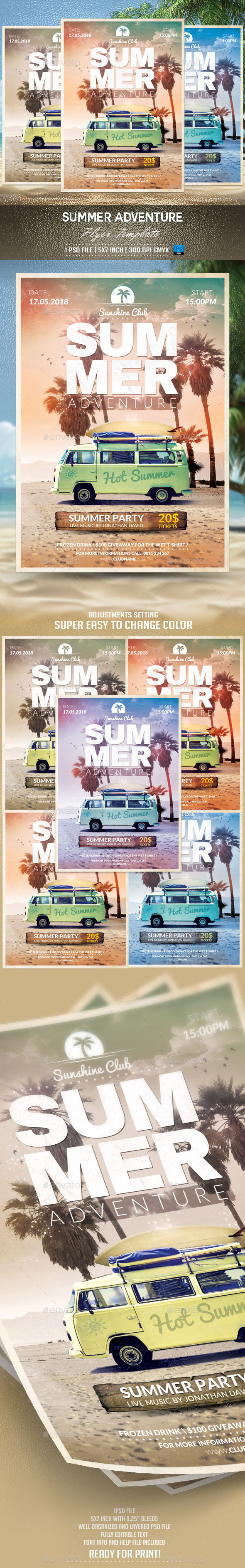 GraphicRiver Summer Adventure Flyer Template 11287799