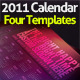 Wall Calendar 2011 with four templates - GraphicRiver Item for Sale