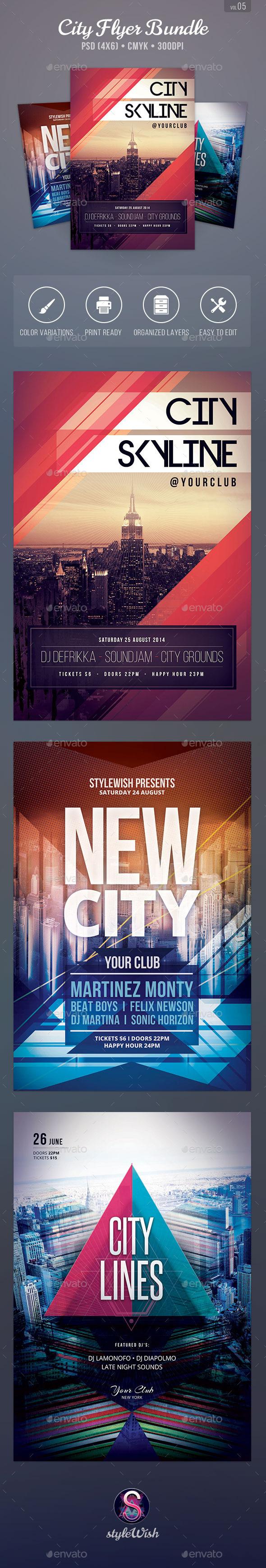 City Party Flyer Bundle Vol.5 - Clubs & Parties Events