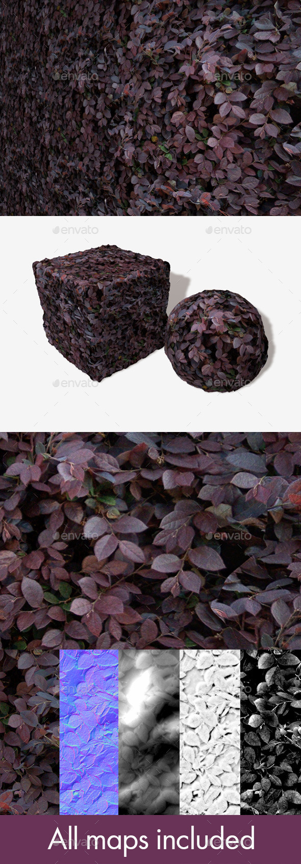 Purple Shrub Seamless Texture