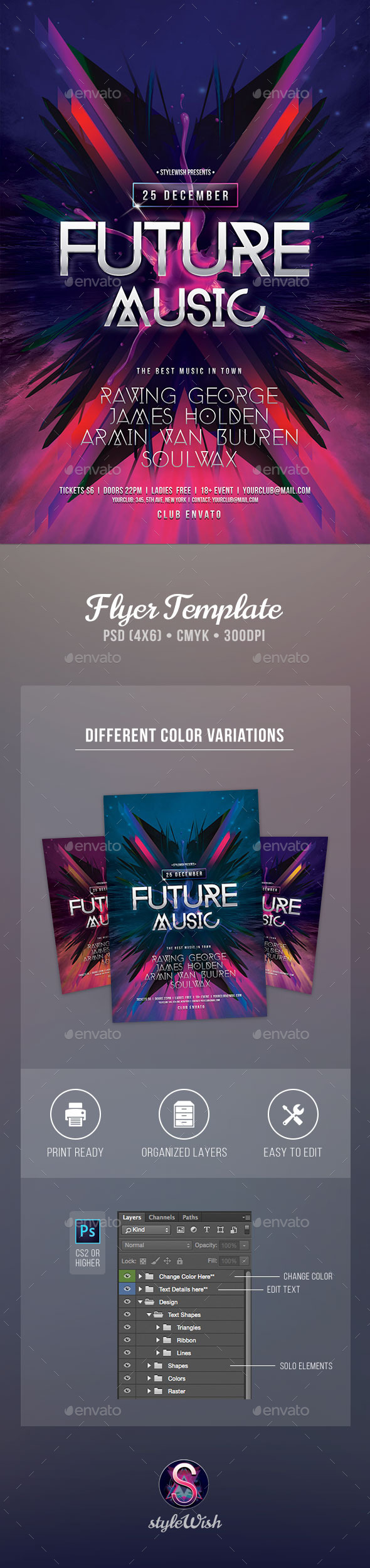 Future Music Flyer - Clubs & Parties Events